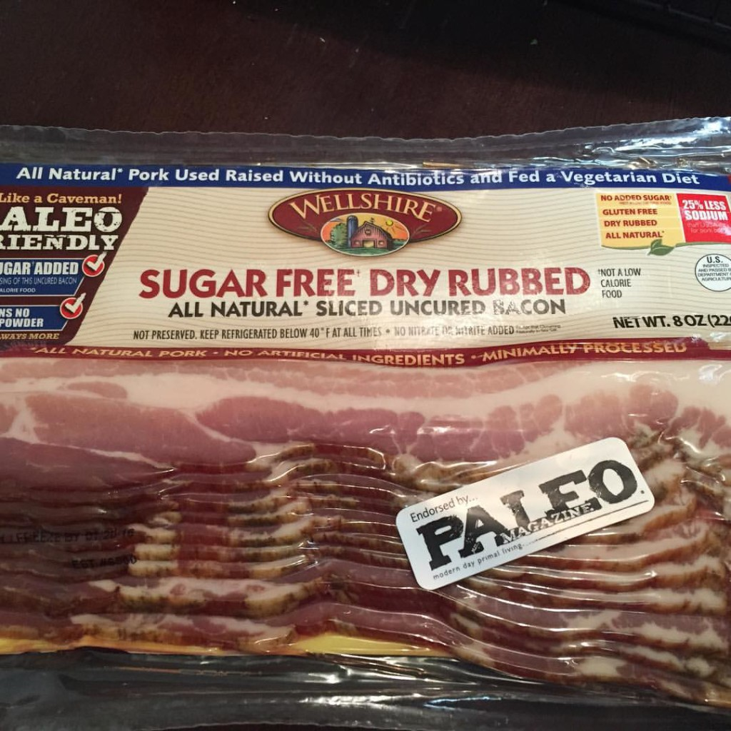 whole 30 food - sugar free bacon